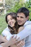 Portrait happy young teenage Stock Photos