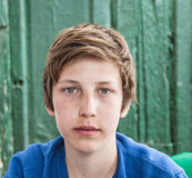 Portrait of happy young teenage boy Royalty Free Stock Photos