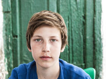 Portrait of happy young teenage boy Stock Photos