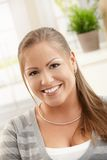 Portrait of happy young woman Stock Image