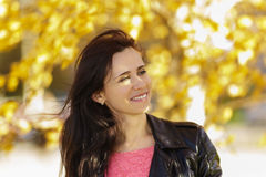 Portrait of a happy young woman. Autumn Royalty Free Stock Photography