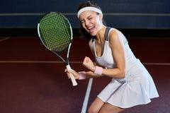 Winning Tennis Match stock image