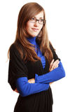 Portrait of a happy young woman in glasses Stock Photography