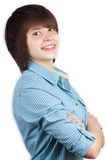 Portrait of happy young woman isolated Royalty Free Stock Photos
