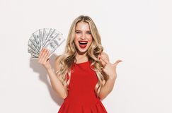 Portrait of a happy young woman stock photography
