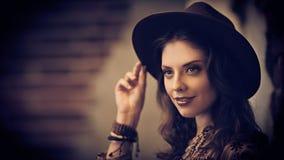 Happy girl in hat