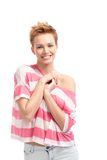 Portrait of happy young woman Royalty Free Stock Image