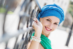 Portrait of a happy young woman Royalty Free Stock Image