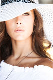 Portrait with hat Royalty Free Stock Images