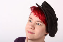 Portrait with hat Royalty Free Stock Photos