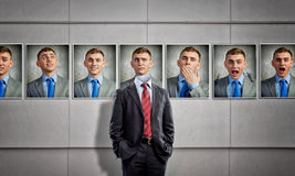 Portrait of headless businessman Royalty Free Stock Images