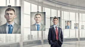 Portrait of headless businessman Royalty Free Stock Photo
