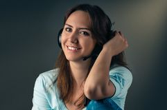 Listening to music Stock Images