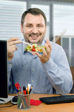 Portrait of healthy eating enthusiast Stock Photos