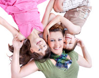 Portrait of a healthy family Royalty Free Stock Image