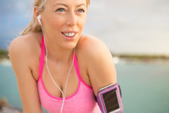 Portrait of healthy fitness woman outdoors Stock Image