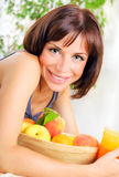 Portrait of healthy young woman Stock Images