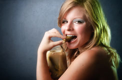 Portrait of healthy young woman Stock Photography