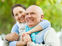 Portrait of сheerful mature couple together Stock Photography