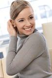 Portrait heureux de femme Images libres de droits