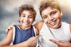 Portrait heureux de garçons Images libres de droits