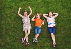 Portrait heureux de trois enfants Photo libre de droits