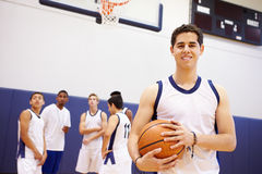 Portrait Of High School Basketball Player Stock Photography
