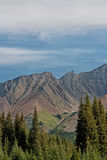 Portrait Highwood Pass Landscape Royalty Free Stock Photos