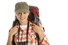 Portrait of hiker Stock Image