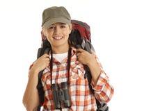 Portrait of hiker Stock Images