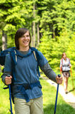 Portrait of hiker boy smiling at camera Royalty Free Stock Photos