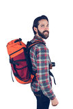 Portrait of hiker smiling Royalty Free Stock Photography