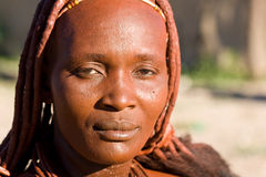 Portrait of a Himba woman. Royalty Free Stock Photos