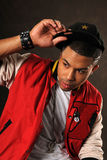 Portrait of Hip Hop African American Man Stock Images