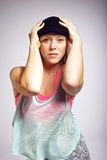 Portrait of hip hop dancer Royalty Free Stock Photography