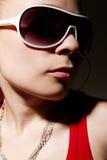 Portrait of hip-hop girl posing in studio Stock Photo