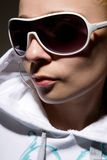 Portrait of hip-hop girl in sunglasses Royalty Free Stock Image
