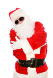 Portrait of Hip Hop Santa Royalty Free Stock Photo