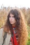 Portrait of hippie girl Stock Photo