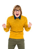 Portrait of hipster shouting Stock Photos