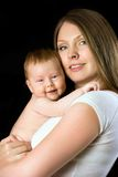 Portrait and his mother Royalty Free Stock Photos