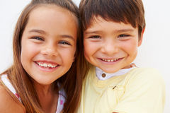 Portrait Of Hispanic Boy And Girl Stock Photo