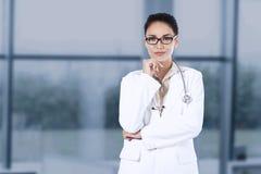 Portrait of hispanic doctor in hospital Stock Photography