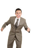 Portrait of a hispanic energetic young business Royalty Free Stock Image