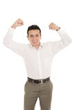 Portrait of a hispanic energetic young business Stock Image