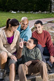 Portrait of Hispanic family outdoors Stock Images