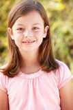 Portrait Hispanic girl outdoors Royalty Free Stock Images