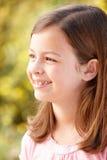 Portrait Hispanic girl outdoors Royalty Free Stock Photos