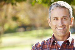 Portrait Of Hispanic Man In Countryside stock photos