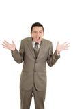 Portrait of hispanic man with shocked facial Stock Photos